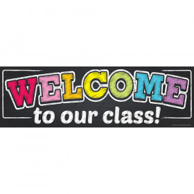 Magnetic Welcome Banner, Neon Chalk