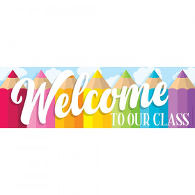 Magnetic Welcome Banner, Colored Pencils