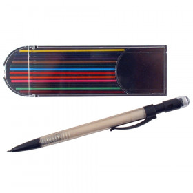 Mechanical Pencil with 12 Colored Leads