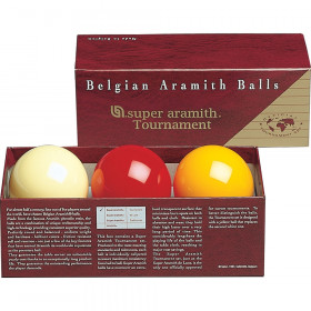 Super Aramith Tournament 61.5mm Carom Ball Set