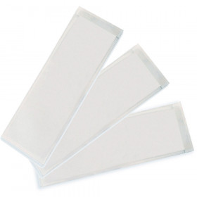"""Clear View Self-Adhesive Extra Small Name Plate Pocket 3.25"""" x 10.5"""", Pack of 25"""