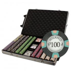 Claysmith Gaming Milano 1000pc Poker Chip Set w/Rolling Aluminum Case