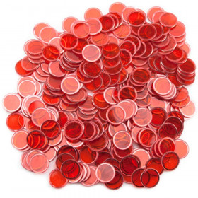 300 Pack Red Magnetic Bingo Marker Chips