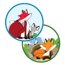 Playful Foxes Two-Sided Decoration