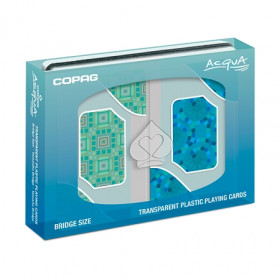 COPAG Acqua Transparent Playing Cards, Bridge Size, Regular Index
