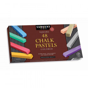 48Ct Assorted Color Artists Chalk Pastels Lift Lid Box