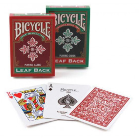 Bicycle Holiday Leaf Back Playing Cards