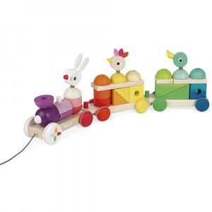 JND08202 - Zigolos Giant Multicolor Train in Toys