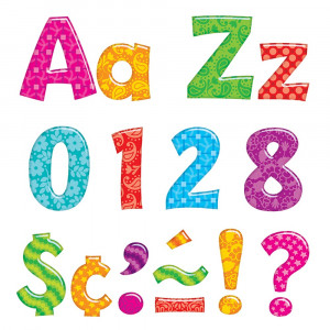 T-79756 - Colorful Patterns 4In Playful Combo Ready Letters in Letters