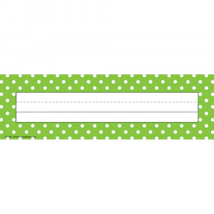 TCR4798 - Lime Polka Dots Name Plates in Name Plates