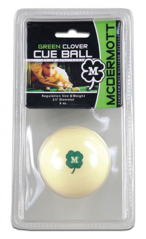 McDermott Green Clover Cue Ball