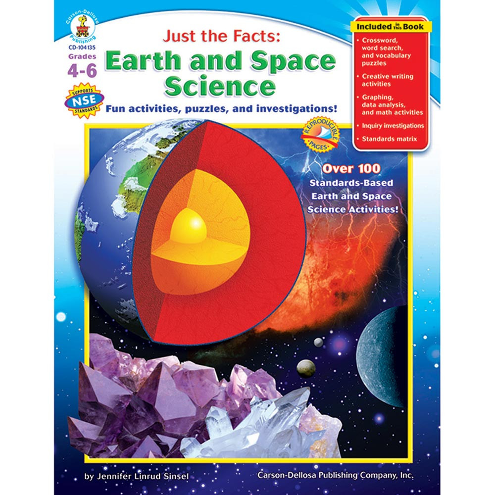Science Facts About Earth: Just The Facts Earth & Space Science Books-Gr 4-6