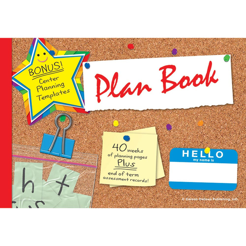 The deluxe plan book grades k 5 cd 104438 carson for Plan books