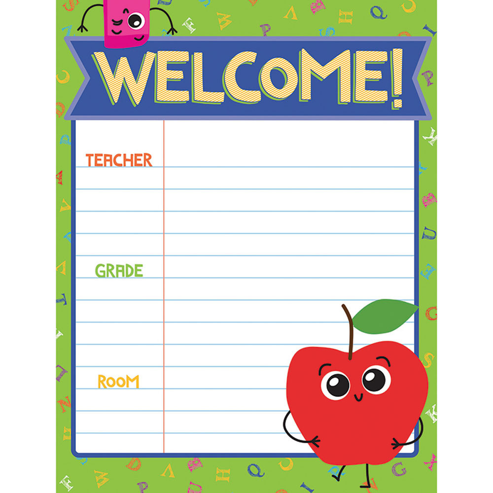Welcome Charts For Classroom Decoration : School tools welcome chart cd carson dellosa