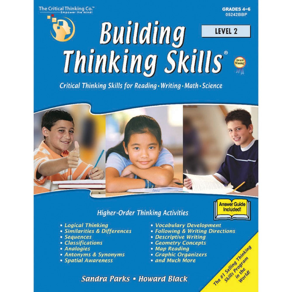 critical thinking company building thinking skills level 1 Building thinking skills level 3 verbal, grades 7-12+, is a multiple award winning program that develops analysis skills for reading, writing and math readiness.