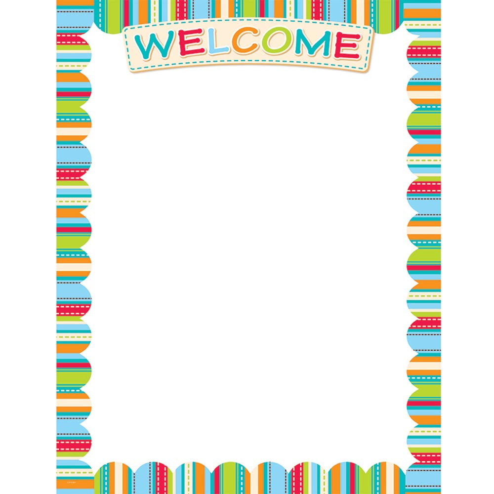 Welcome Charts For Classroom Decoration : Dots on turquoise welcome chart ctp creative