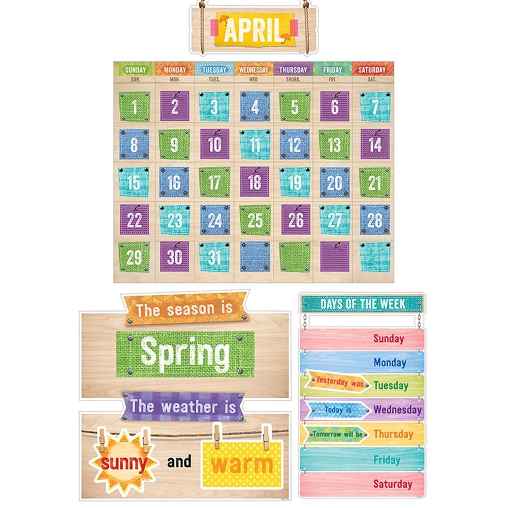 Creative Teaching Press Classroom Decorations ~ Upcycle style calendar set bulletin board ctp