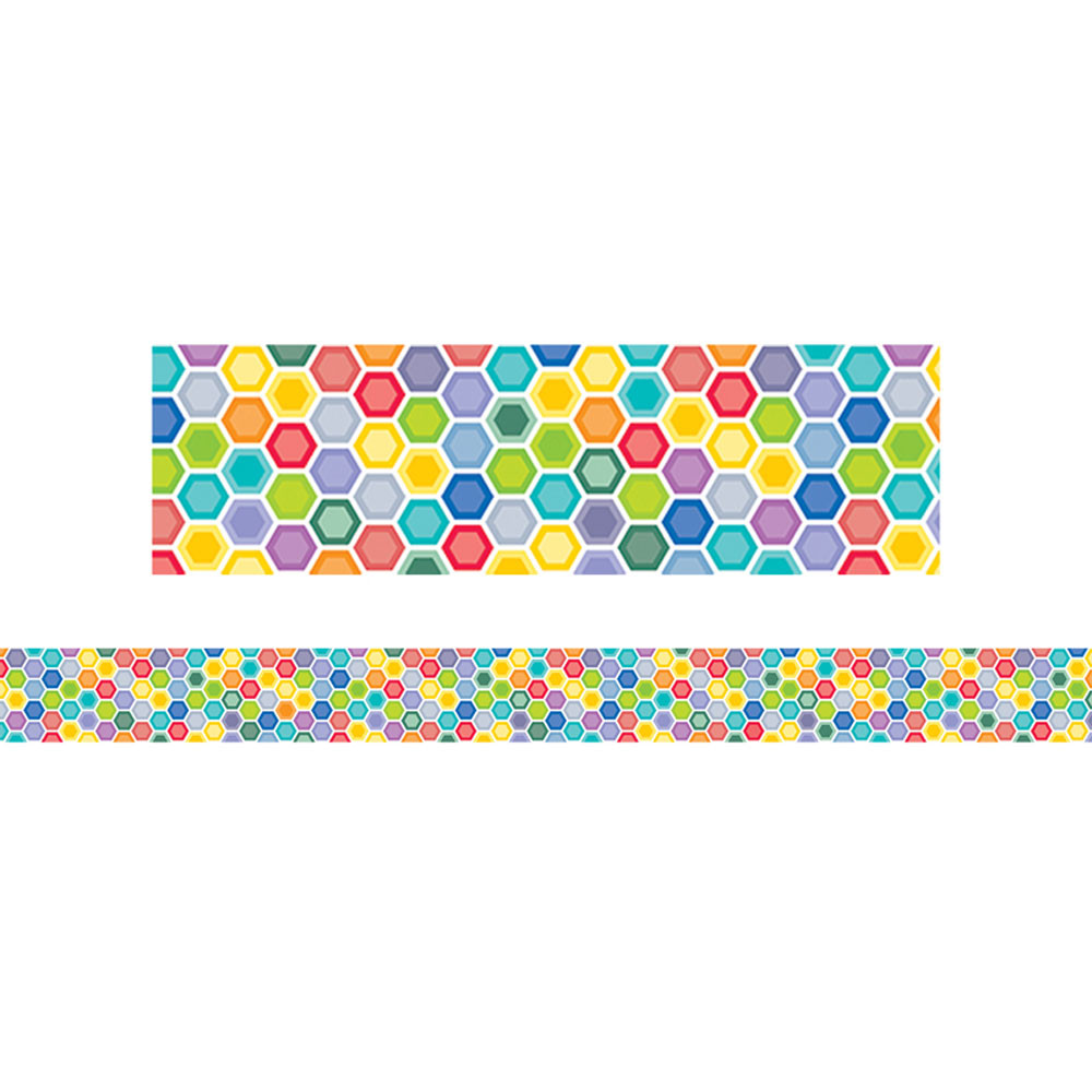 Creative Teaching Press Classroom Decorations : Hexafun mini hexagons border ctp creative teaching