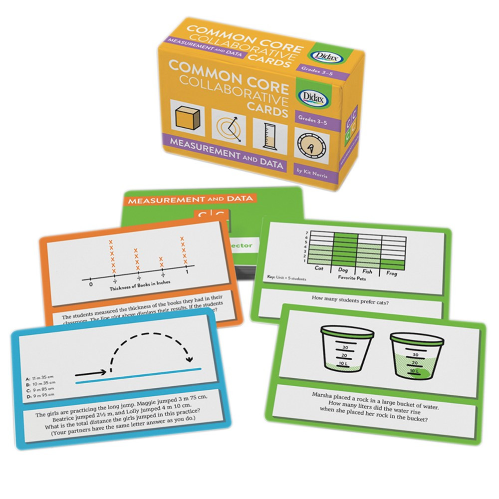 Collaborative Classroom Data ~ Measurement and data common core collaborative cards dd