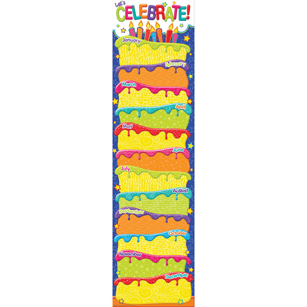 Color My World Birthday Banners Vertical
