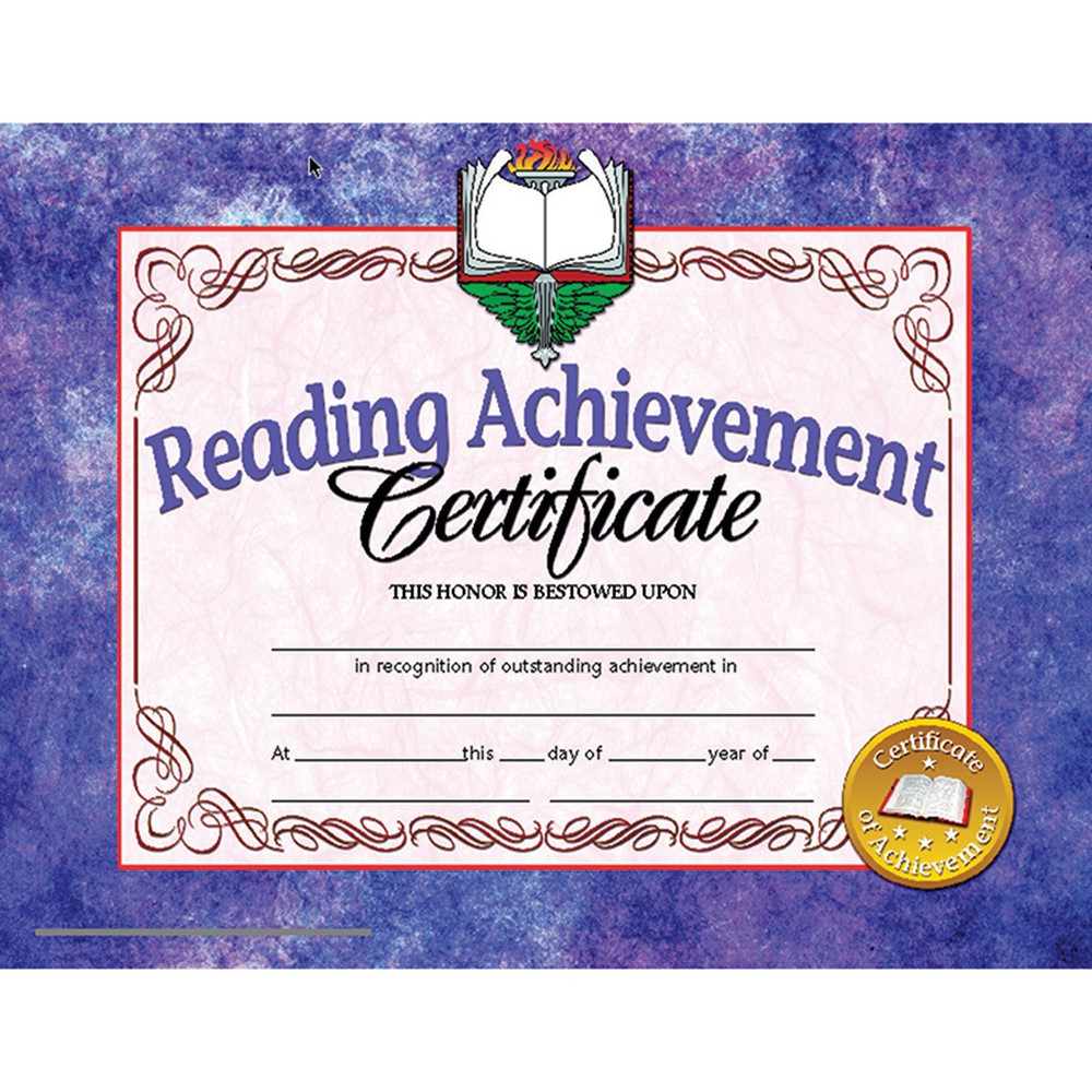 Reading Achievement 30Pk 8.5 X 11 Certificates Inkjet