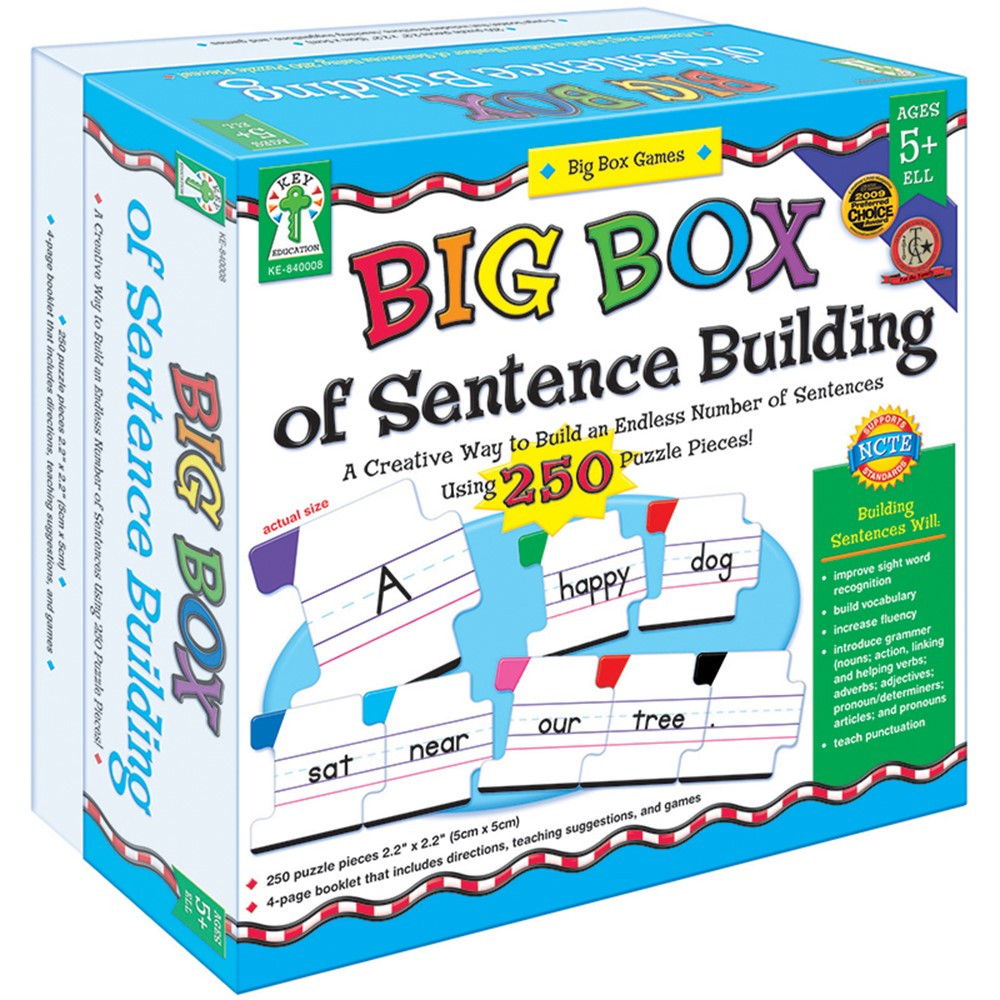 Big box of sentence building game age 5 ke 840008 for Sentence of floor