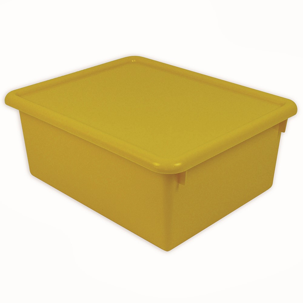 Stowaway Yellow Letter Box With Lid 13 X 10 1 2 X 5