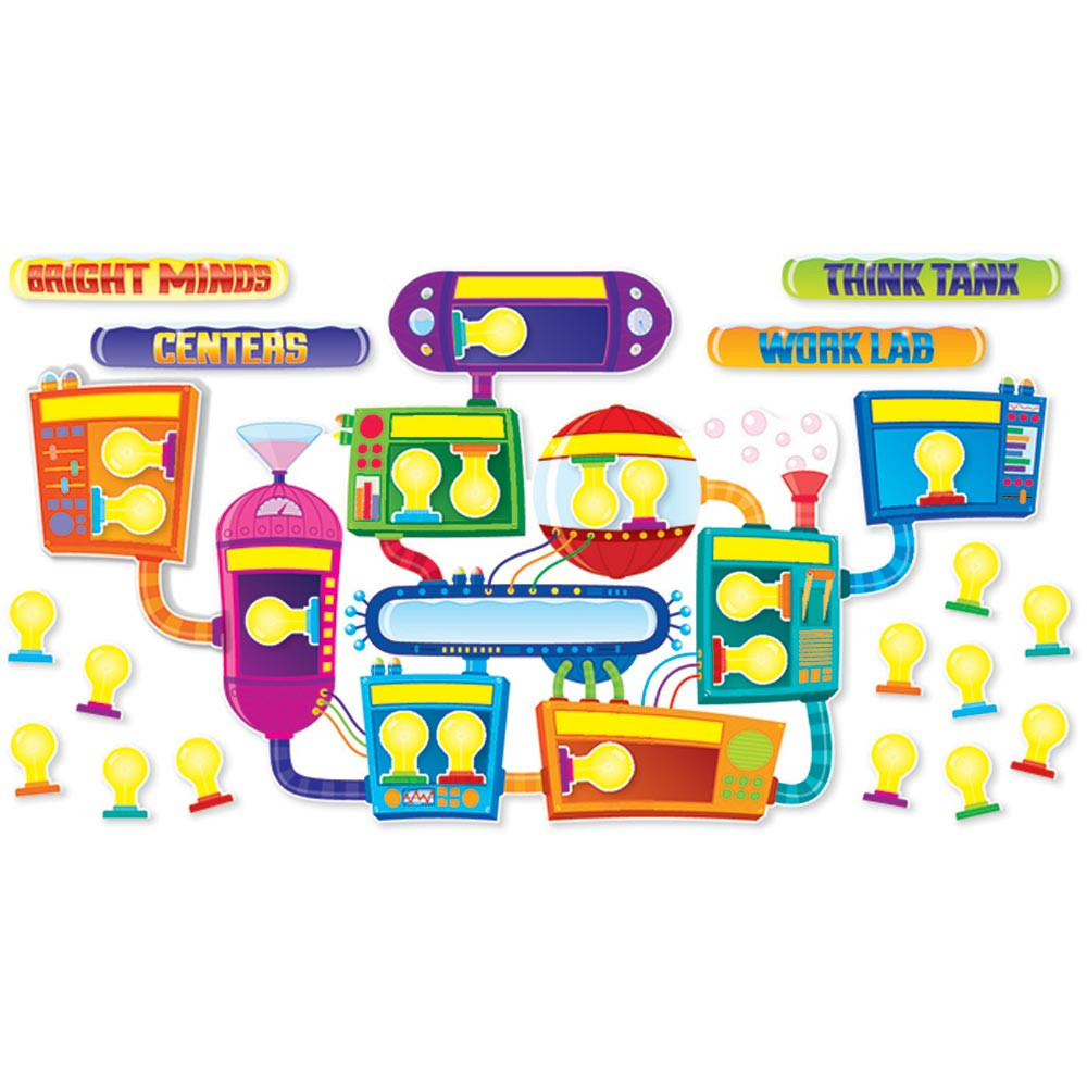 Classroom Decorations Bulletin Board Set ~ Think tank bulletin board set sc scholastic