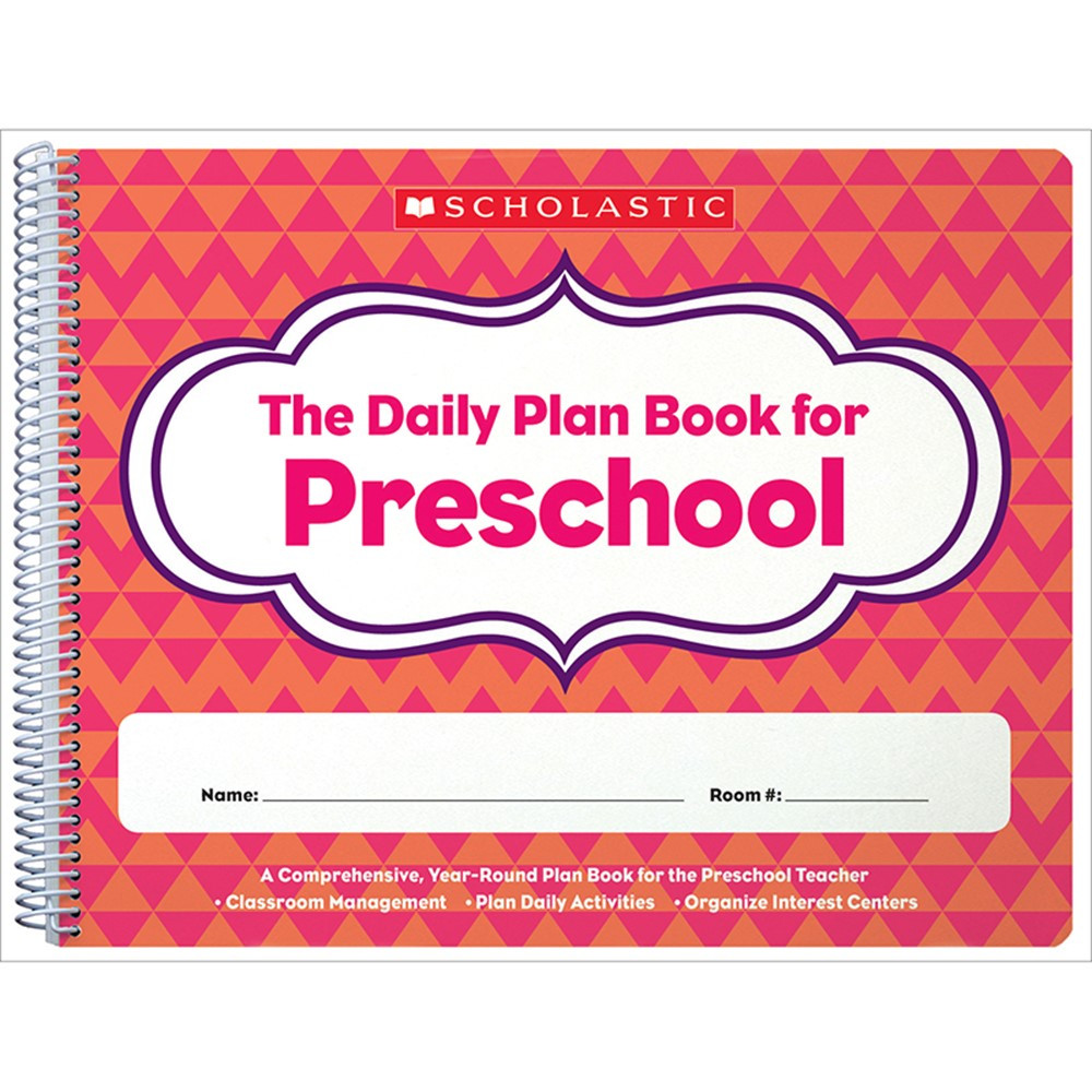 Daily plan book for preschool sc 806458 scholastic for Plan books