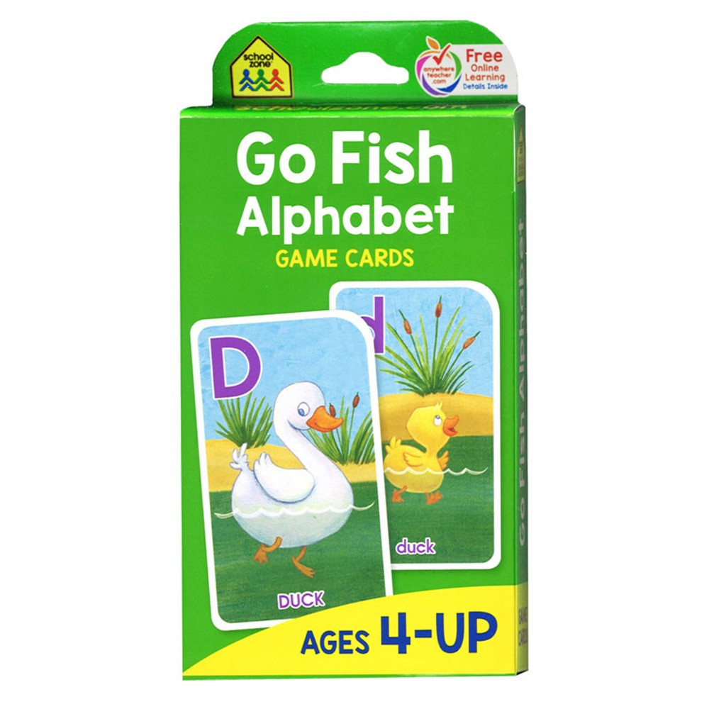 Go fish game cards szp05014 school zone publishing for Fish card game