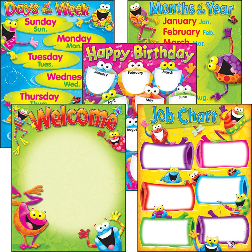 Classroom Basics Frog-tastic!® Learning Charts Combo Pack