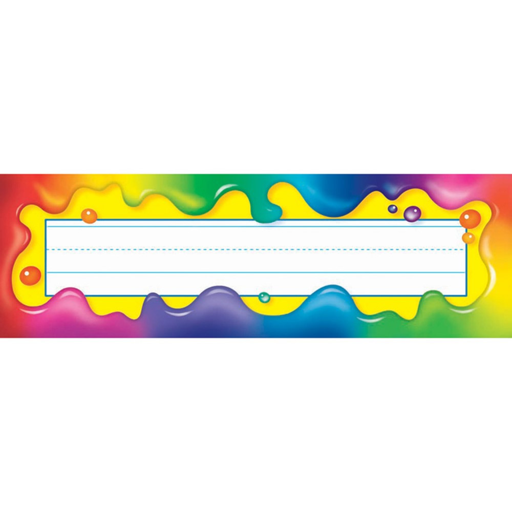 Rainbow Gel Desk Toppers Name Plates T 69030 Trend