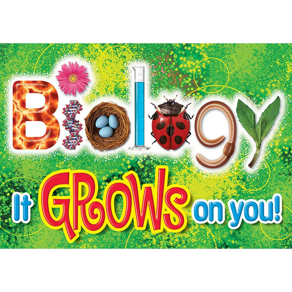 Biology Classroom Decorations ~ Biology it grows on you argus large poster t a