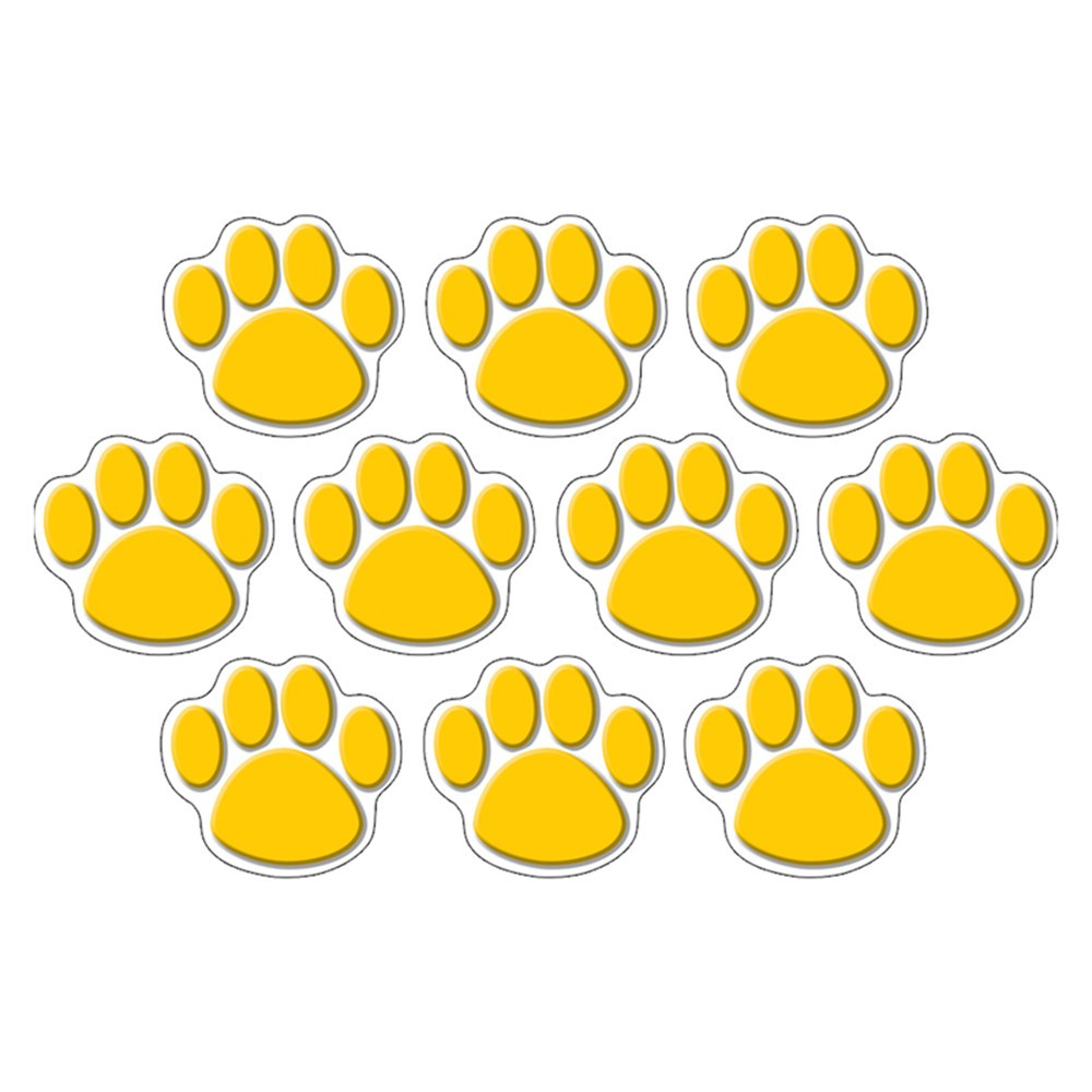 Gold Paw Prints Accents - TCR4645 Teacher Created Resources