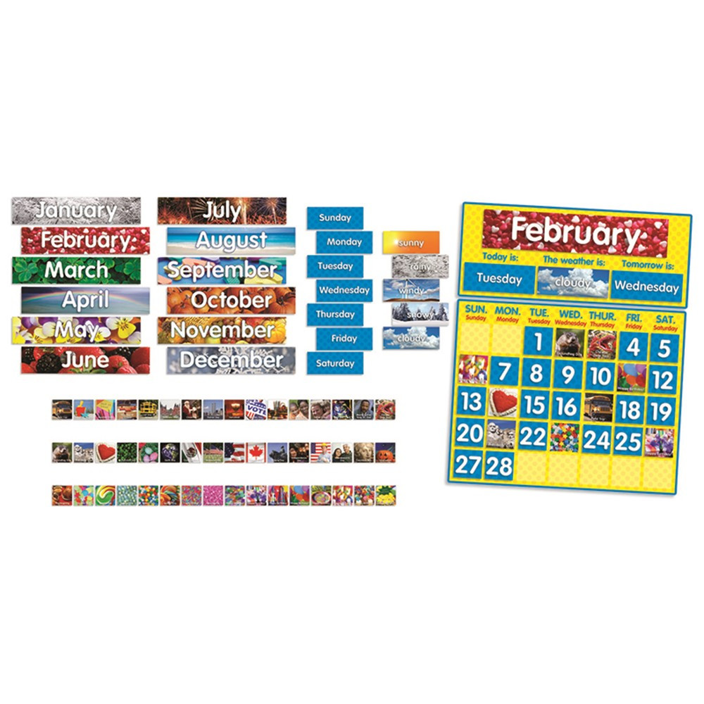 Classroom Calendar Bulletin Board Set : Photo calendar bbs tf scholastic teaching