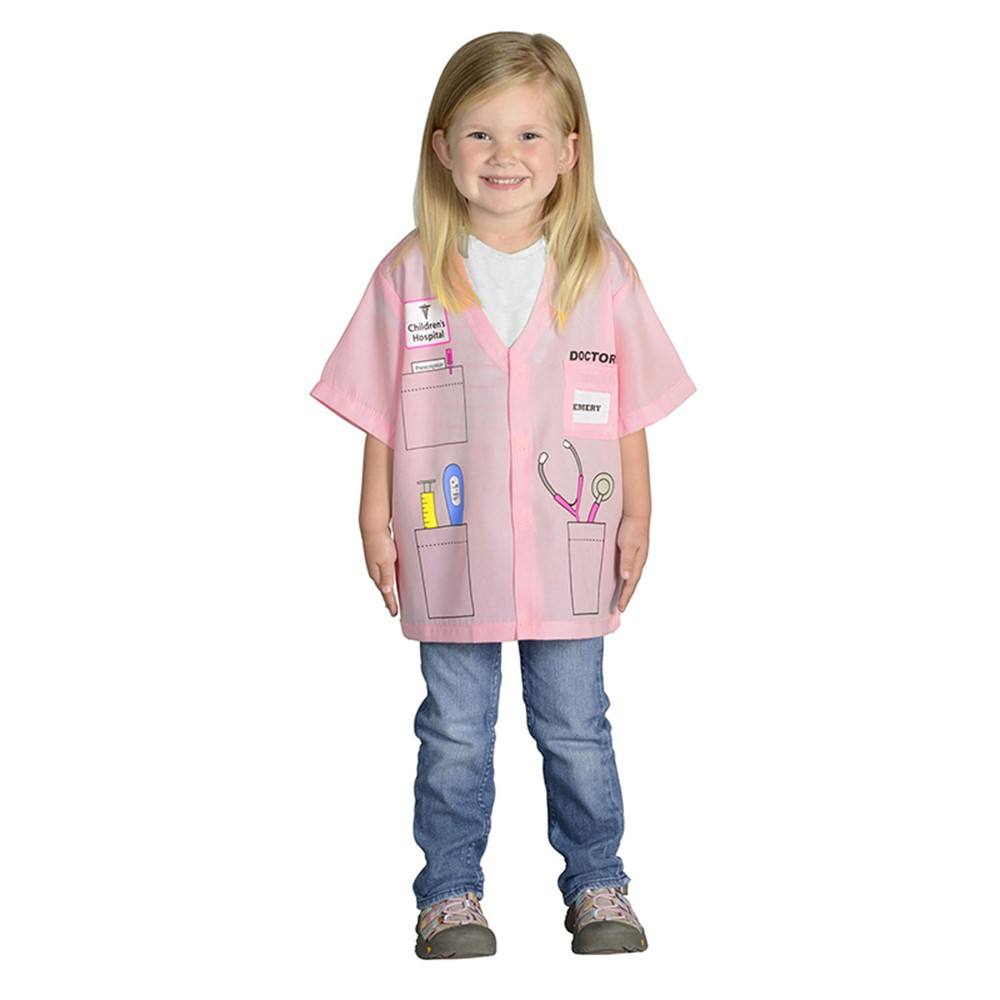 AEATDRP - My 1St Career Gear Pink Doctor Top One Size Fits Most Ages 3-6 in Role Play