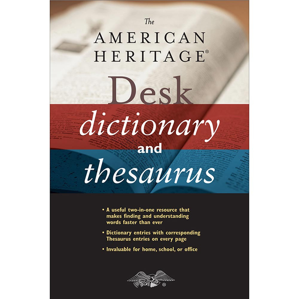AH-9780618592616 - The American Heritage Desk Dictionary And Thesaurus in Reference Books