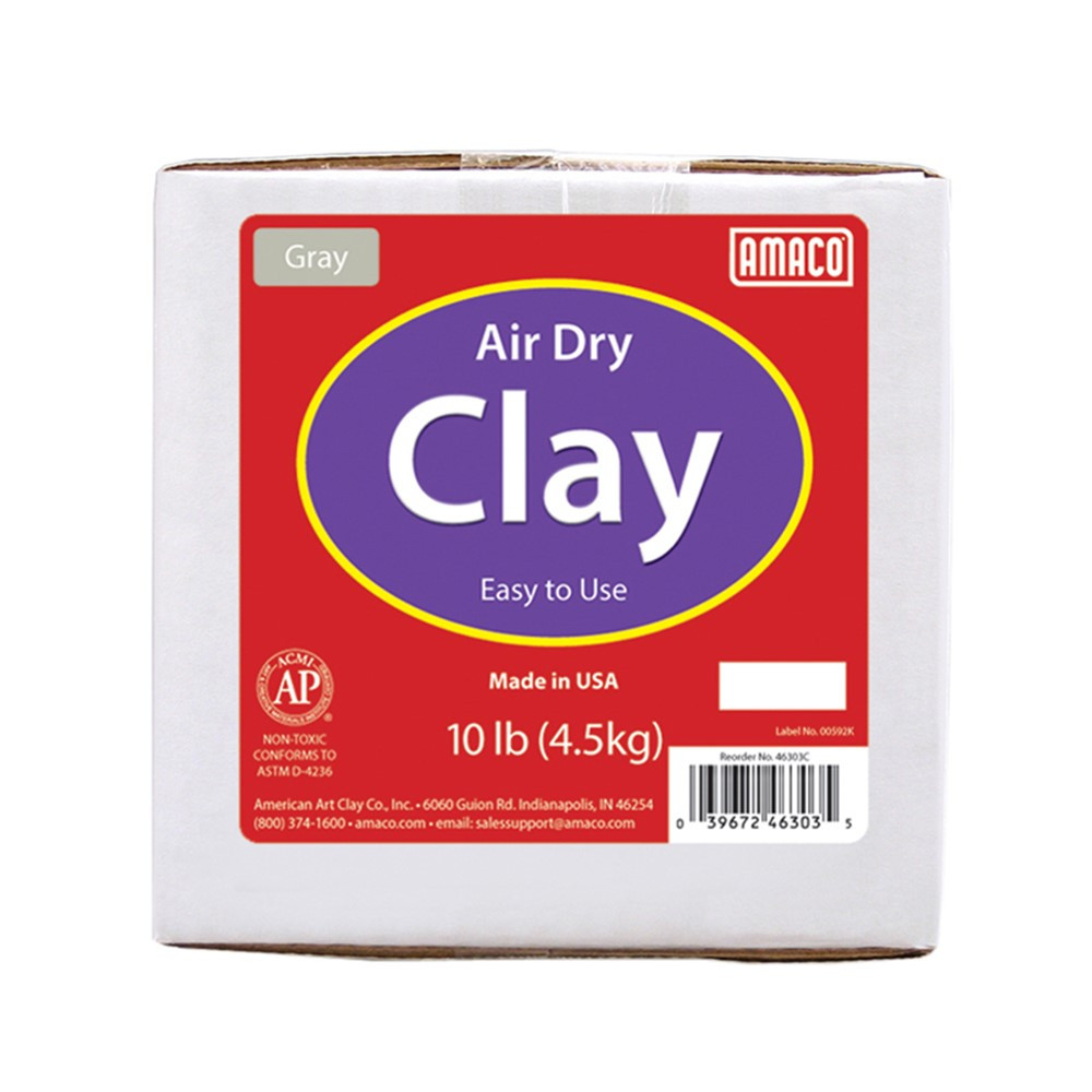 Air Dry Clay, Gray, 10 lbs. - AMA46303C | American Art Clay | Clay & Clay Tools