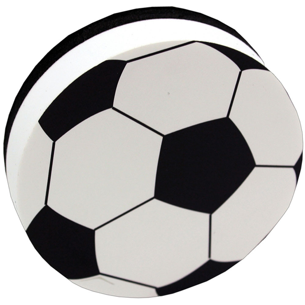 ASH10032 - Magnetic Whiteboard Erasers Soccer in Whiteboard Accessories