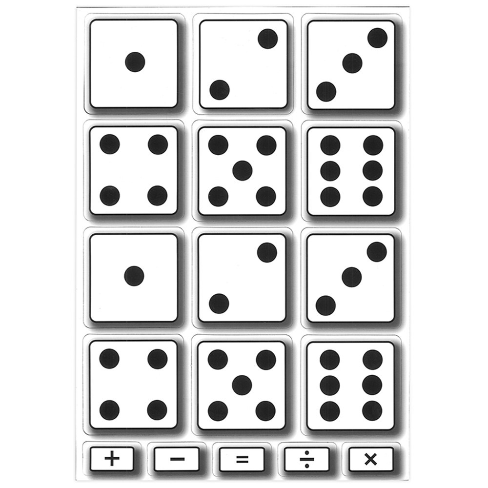ASH10061 - Math Die Cut Magnets Dice in Dice
