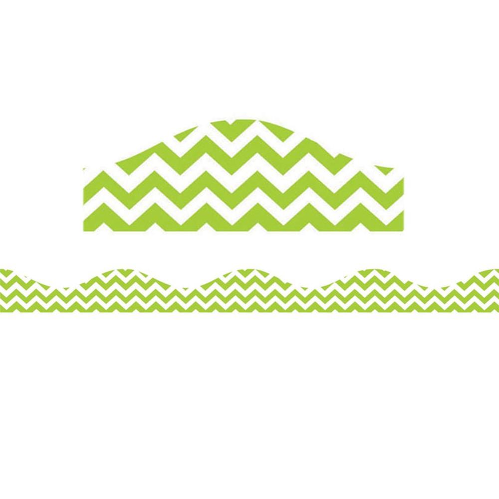 ASH10199 - Magnetic Border Lime Green Chevron in Border/trimmer