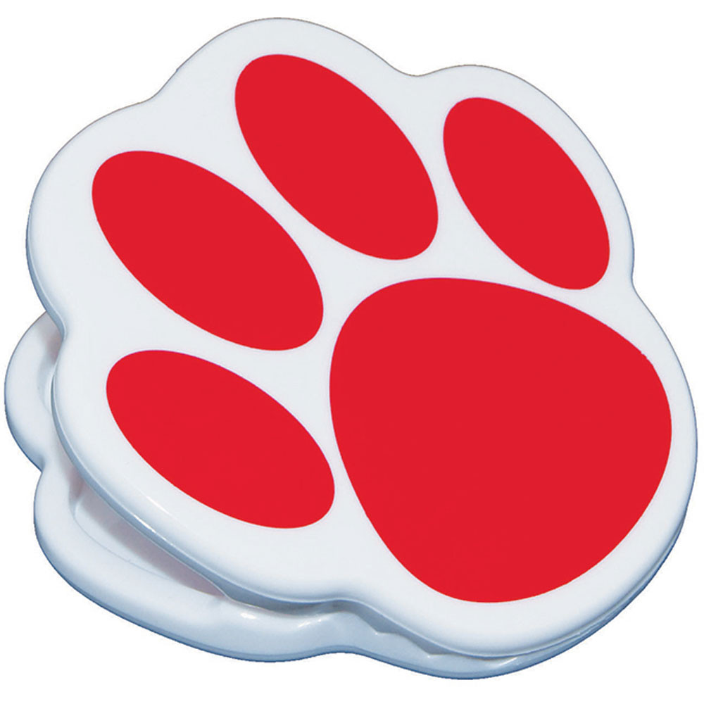 ASH10221 - Magnet Clips Red Paw in Clips