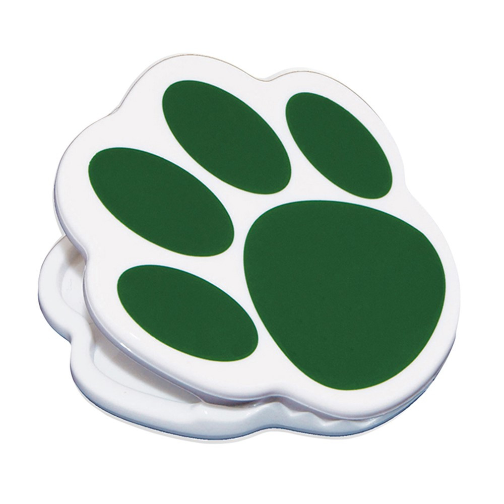 ASH10224 - Magnet Clips Green Paw in Clips