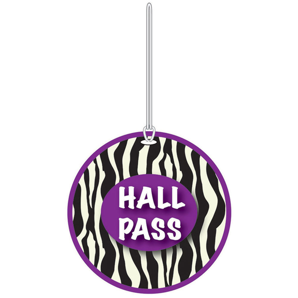 ASH10393 - Zebra Hall Pass in Hall Passes
