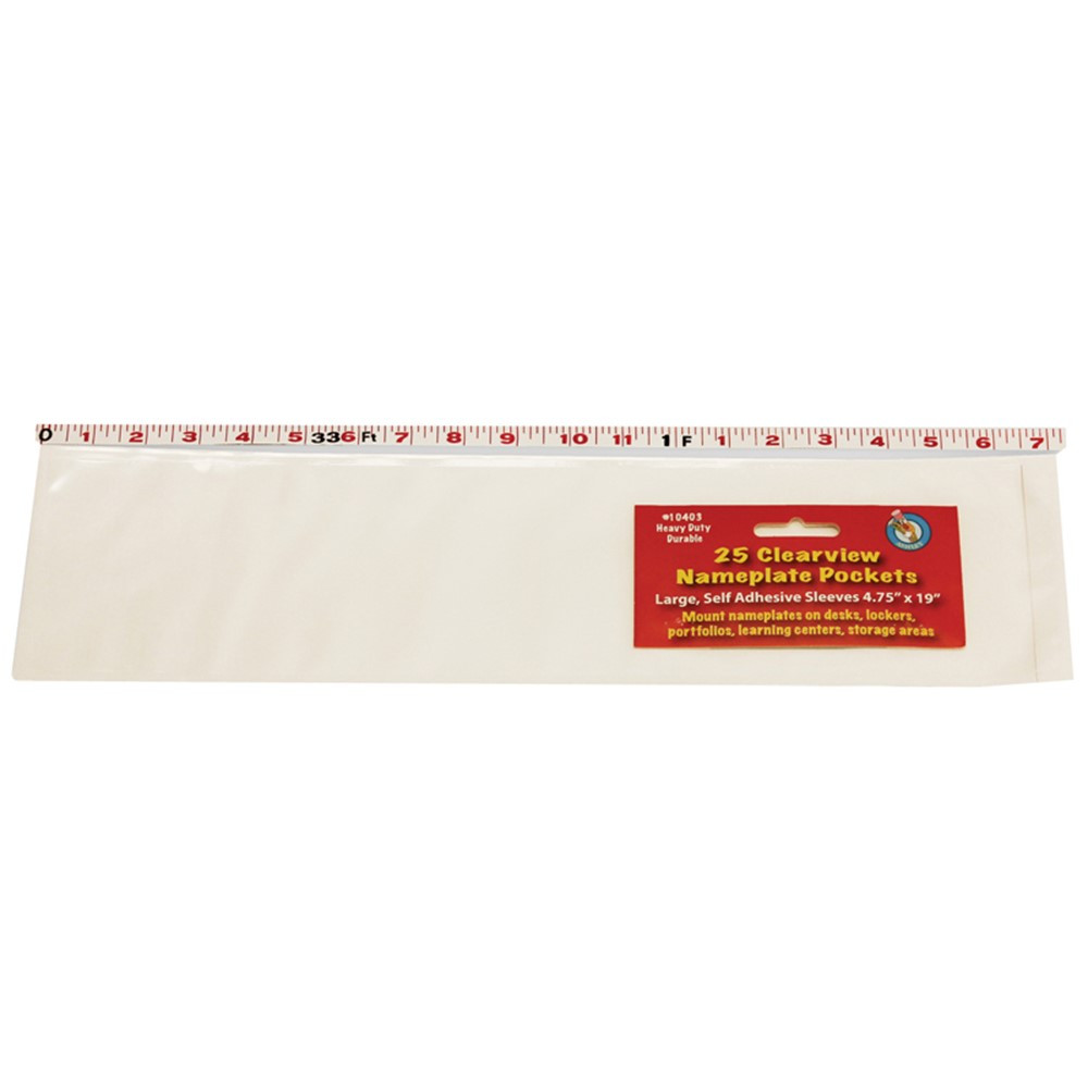 ASH10403 - Large Name Plate Pocket 25/Pk 4 3/4 X 19 in Name Plates