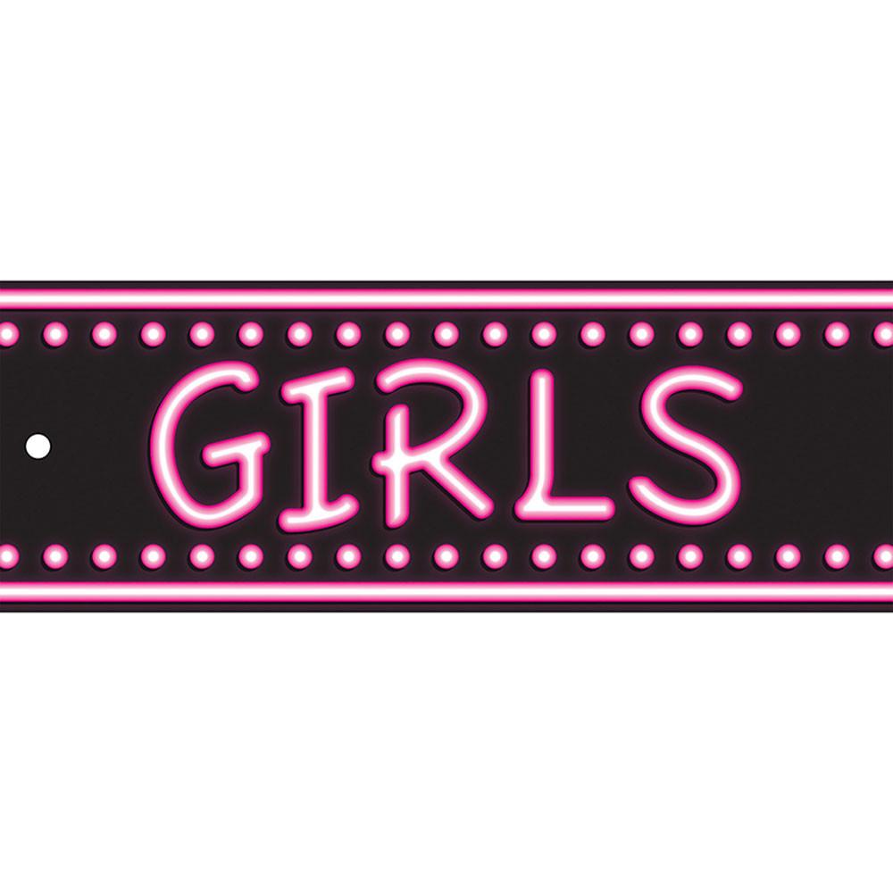 ASH10656 - Laminated Hall Pass Neon Girls in Hall Passes