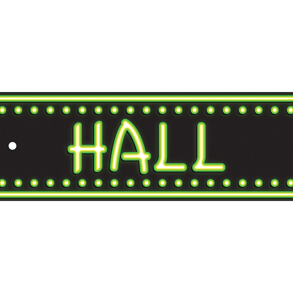 Laminated Hall Pass Neon Hall