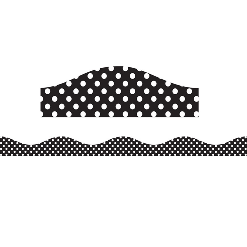 ASH11122 - Big Magnetic Border Black & White Dots in Border/trimmer