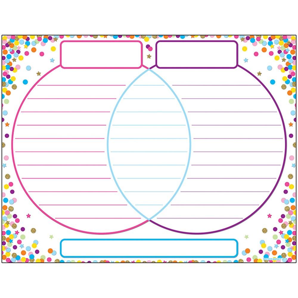 ASH92019 - Chart Venn Diagram Confetti Dry-Erase Surface in Classroom Theme