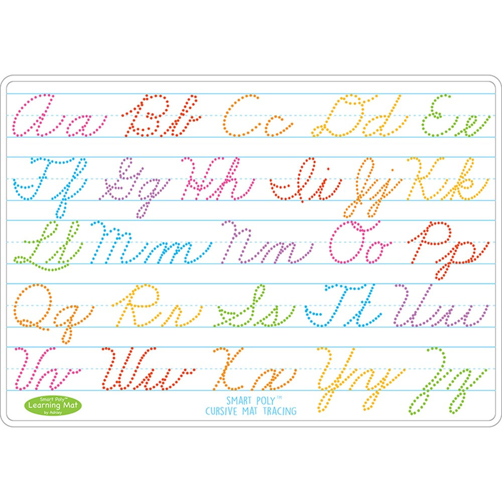 Cursive Writing Learn Mat 2 Sided Write On Wipe Off